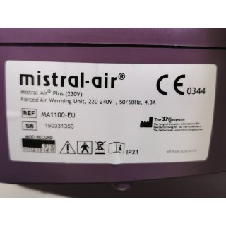 warming system - the 37 company - mistral-air Plus - MA 110-EU